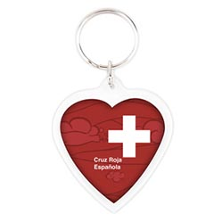 porte-clés coeur acrylique cr-cor