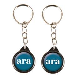 porte-clés rond acrylique badgering25-2c