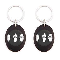 porte-clés ovale acrylique badgering25-mz