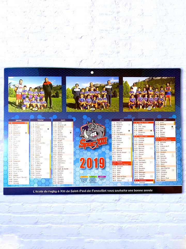 calendrier SPACXIII
