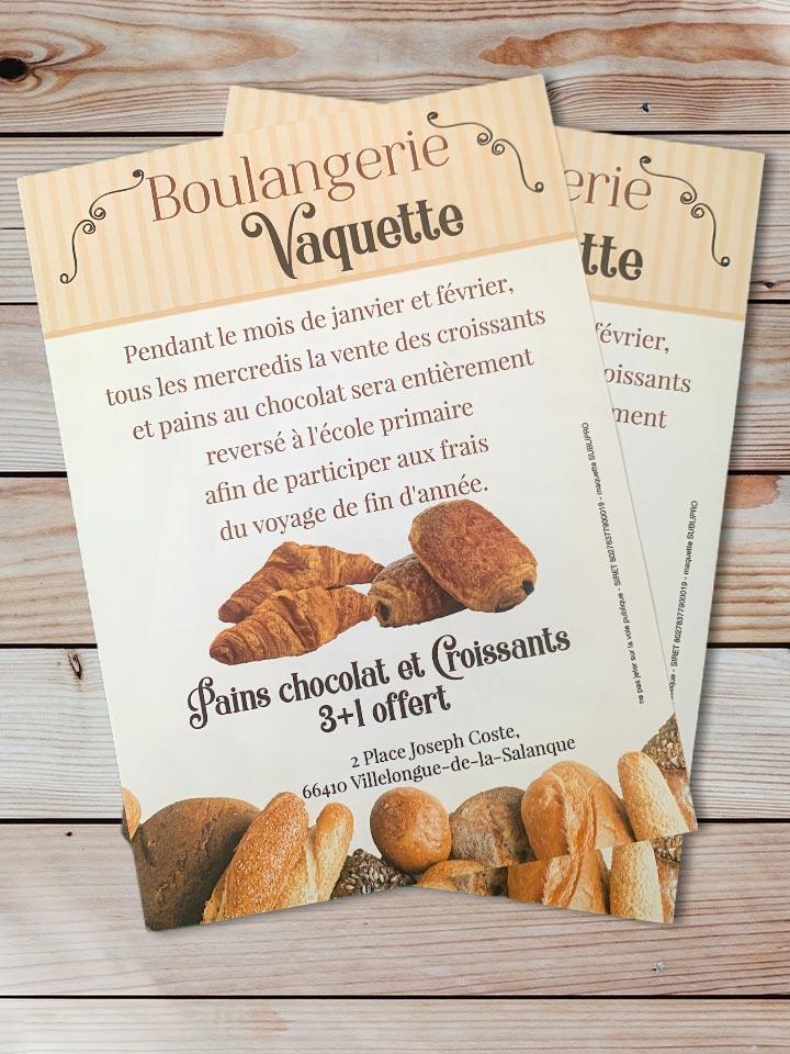 flyer boulangerie vaquette